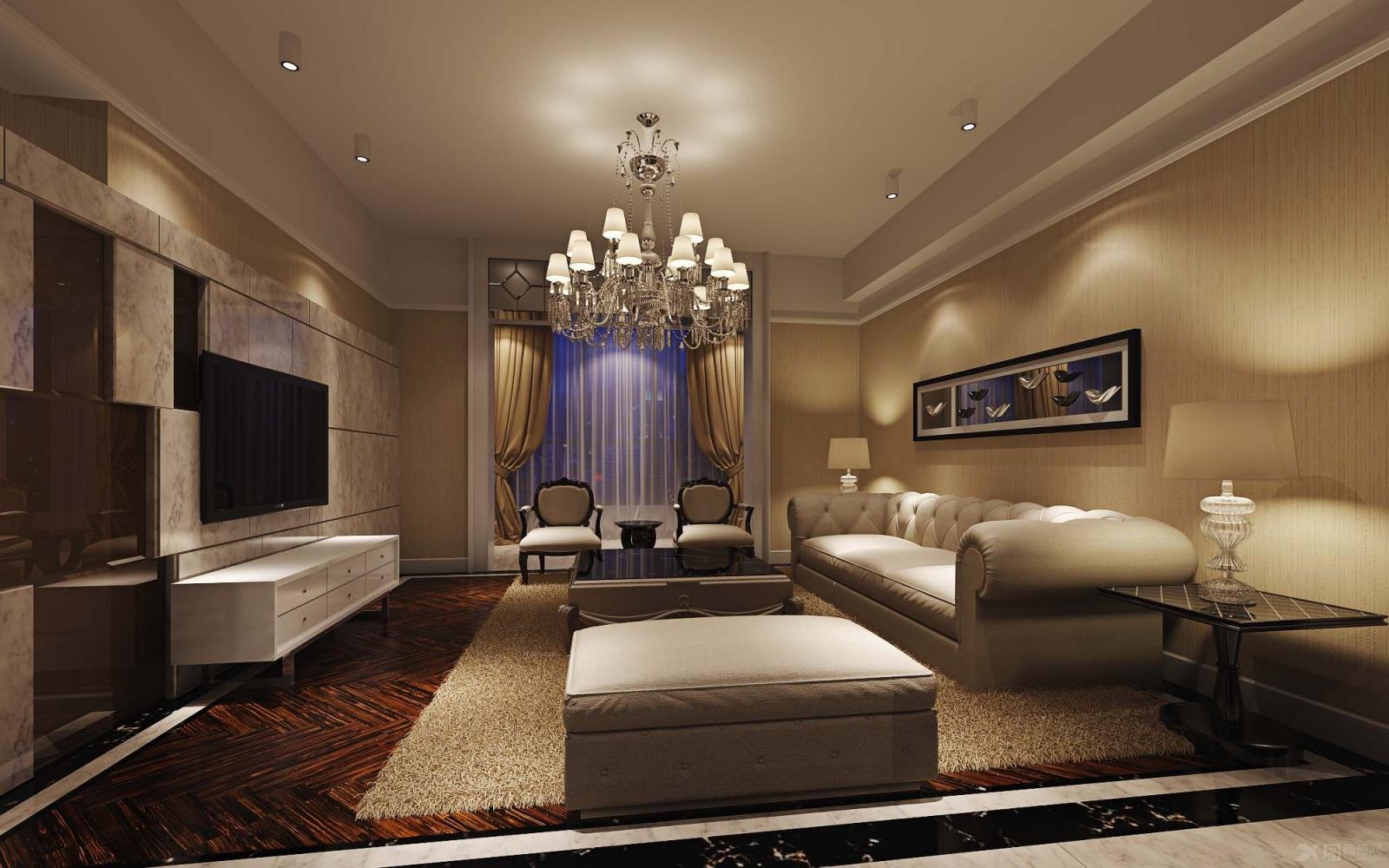 三室一厅简约风格_群升御园图片