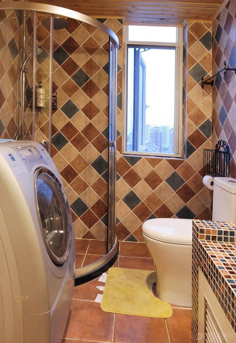 地中海风格卫生间设计装修效果图 卫生间装修效果图 公共卫生间装修