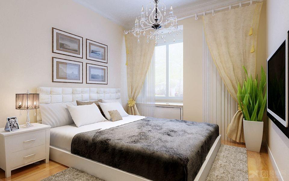 两室一厅简欧风格_东仁风景—现代简欧装修效果图-x团图片