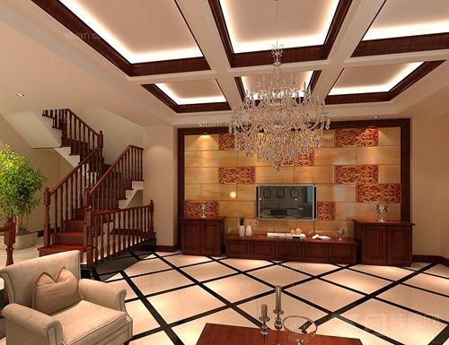 290㎡中式风格别墅造价45万图片