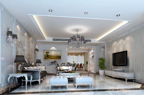 三室一厅客厅_家和天下装修效果图-x团装修网