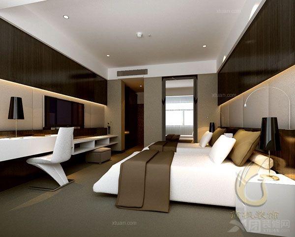 现代空白_背景/宾馆/招待所/快捷旅店装修效果图-x团ps宾馆风格怎么做墙纸效果图片