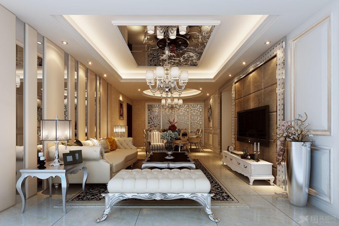 客厅设计装修效果图 原生态朴质的复式楼客厅装修效果图  户型:三室