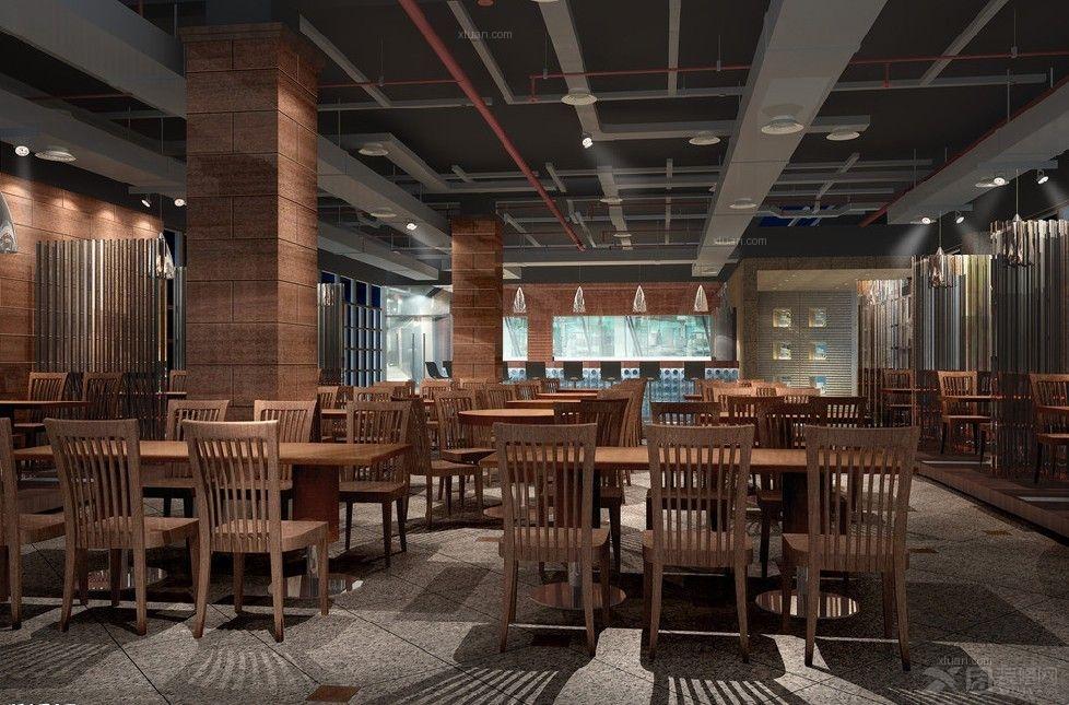 现代中式食堂设计