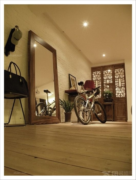 排屋连地下室共3层装修效果图 地下室客厅装修效果图  设计理念:农村