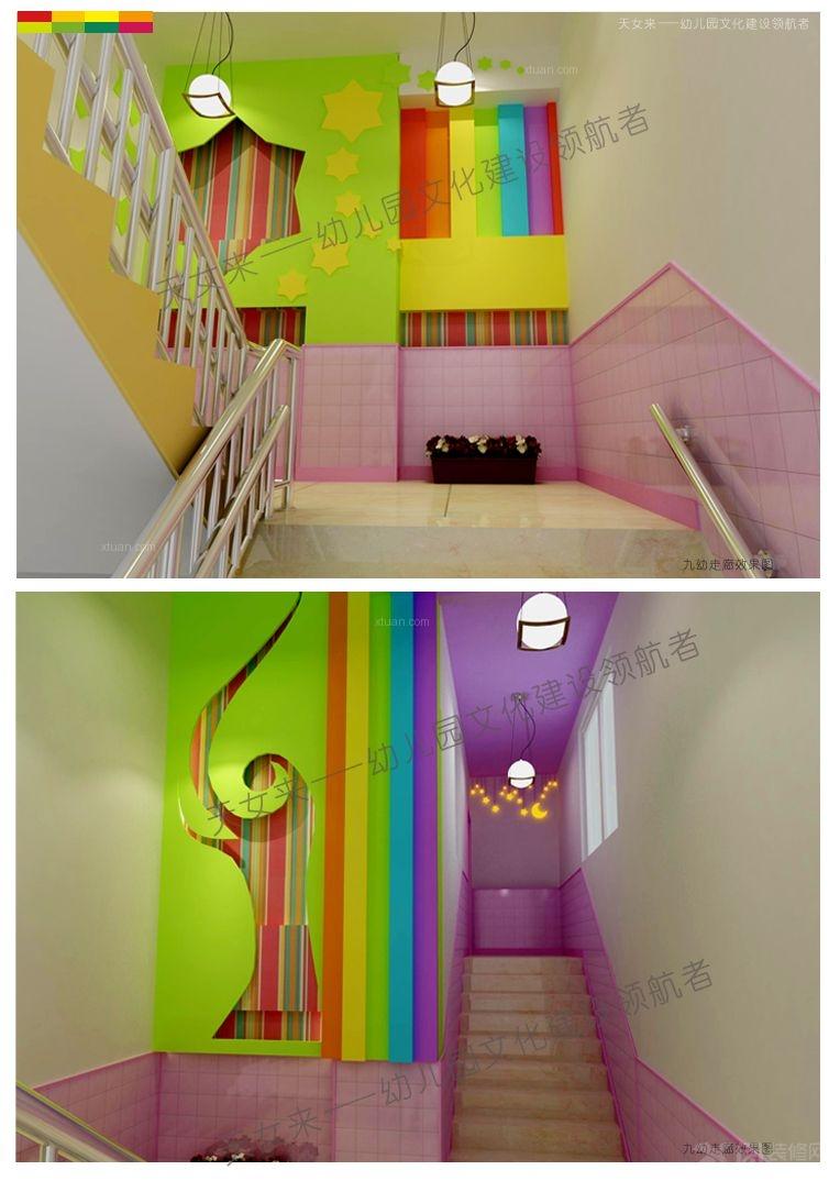幼儿园设计楼梯间装修效果图