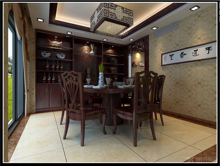 别墅中式风格餐厅_西湖一号