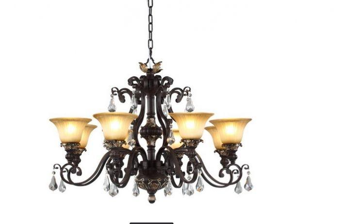 x团装修网 上海建材市场 灯饰 灯饰  铁艺灯饰带有古朴的气质,为你的