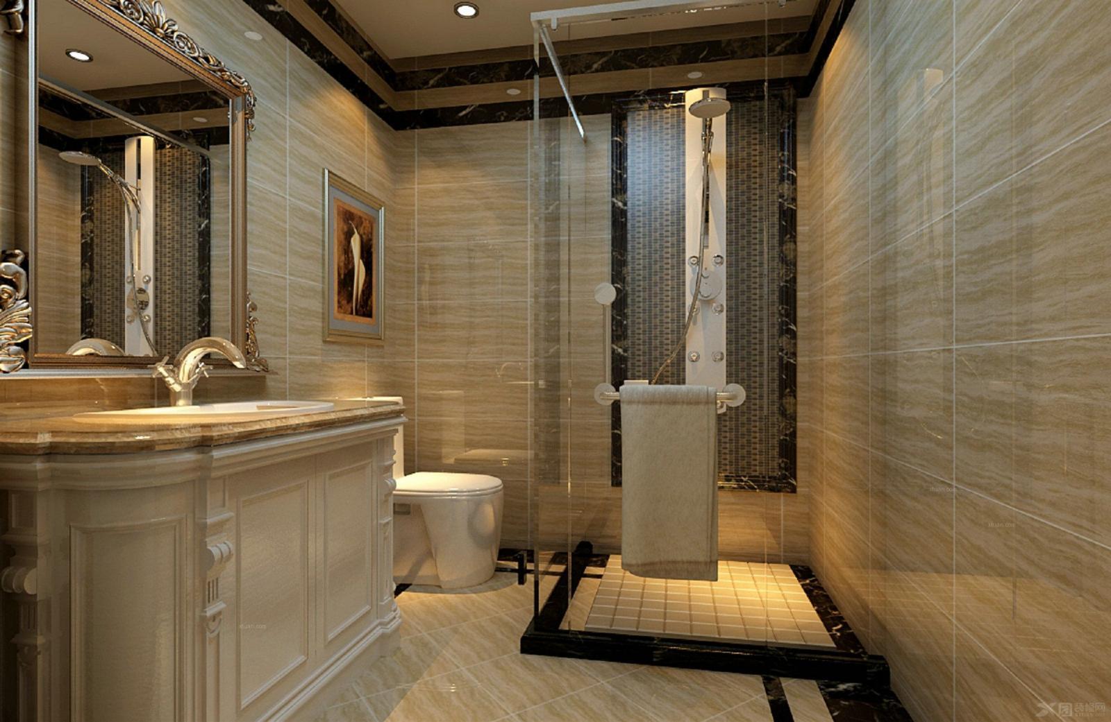 三居室欧式风格卫生间图片