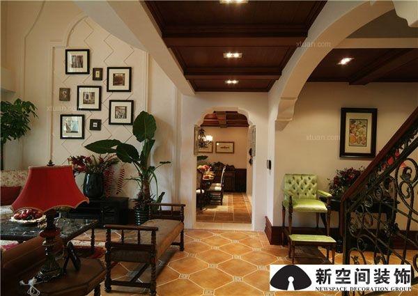 阳台过道门厅灯 客厅卧室灯装修效果图  户型:复式楼 房间:过道 风格