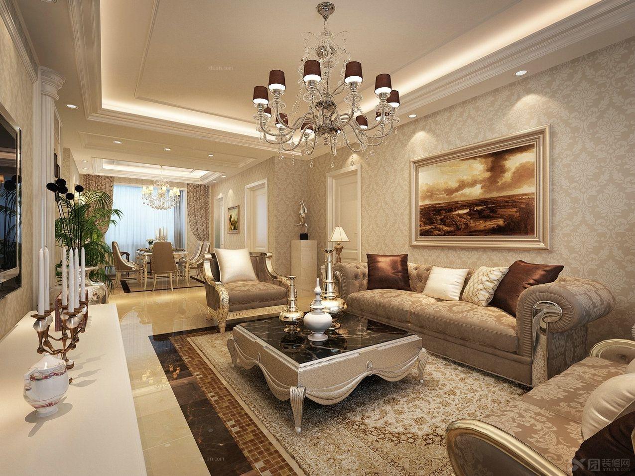 阳光小区三室两厅一卫装修效果图  户型:三室两厅 风格:欧式风格 装修