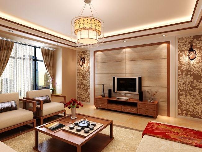 三室两厅中式风格客厅_省公务员小区