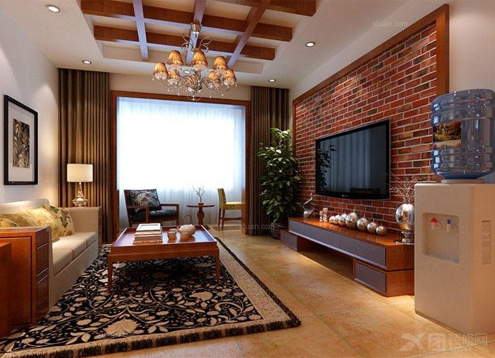 石家庄实创装饰-想象国际装修设计-90平米东南亚两居