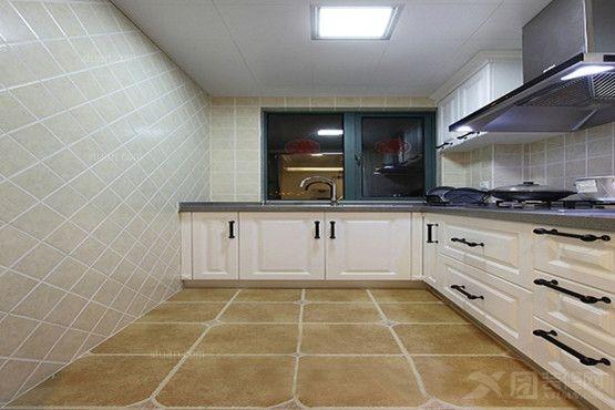 两居室简欧风格厨房_兴盛大成-97.5㎡户型装修效果图图片