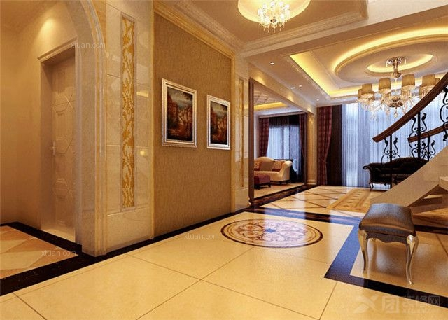 简欧风格客厅_石家庄实创装饰-国际城-200奢华欧式四居室图片