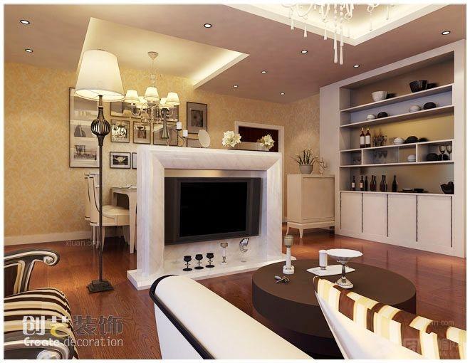 客厅装修效果图 客厅设计装修效果图 原生态朴质的复式楼客厅装修效果