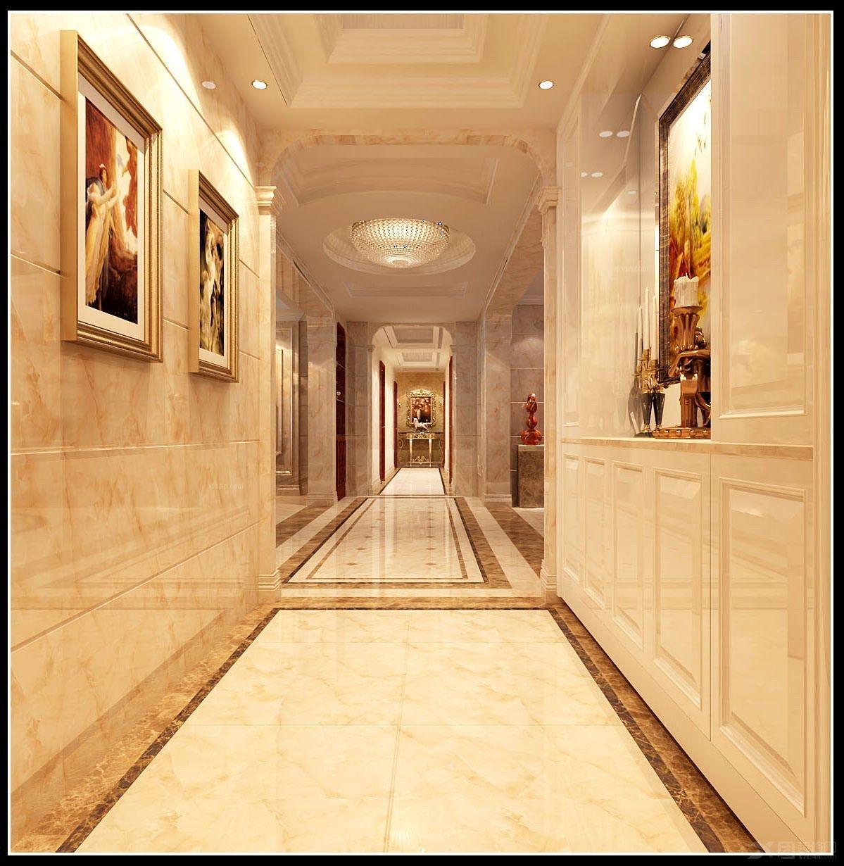 灯装修效果图  户型:大户型 房间:过道 风格:简欧风格 装修类型:家装图片
