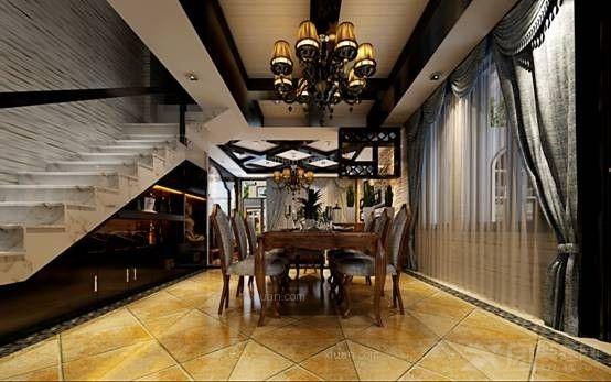 别墅地中海风格餐厅软装