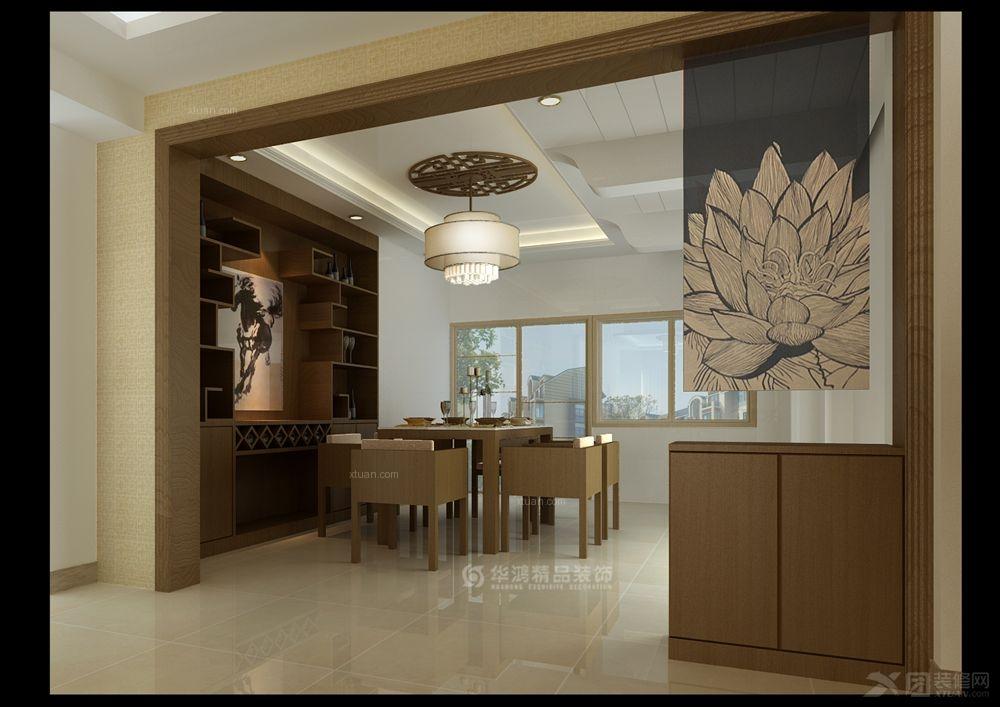 三居室中式风格餐厅_中骏蓝湾半岛