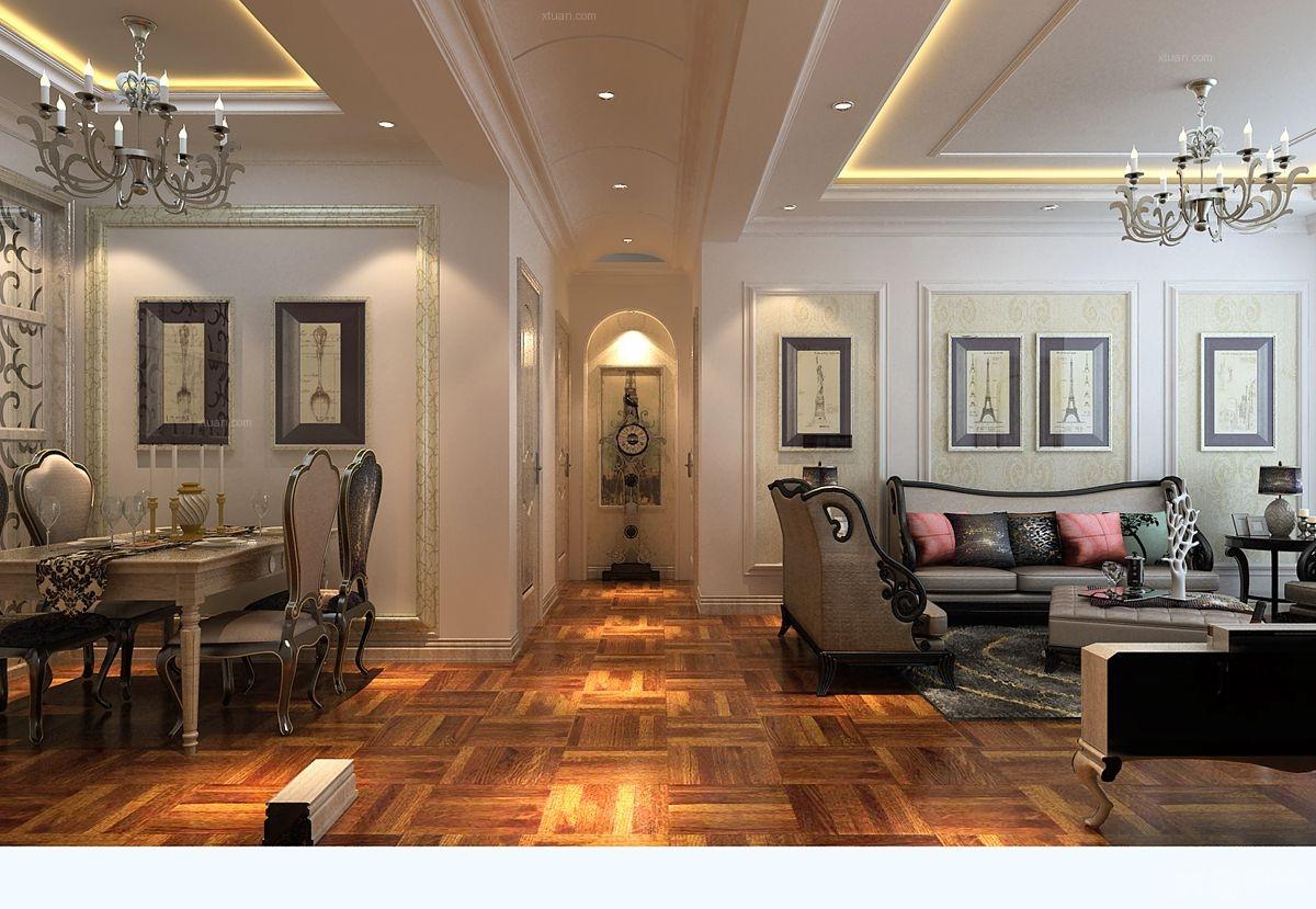 门厅灯 客厅卧室灯装修效果图  户型:两居室 房间:过道 风格:欧式风格图片