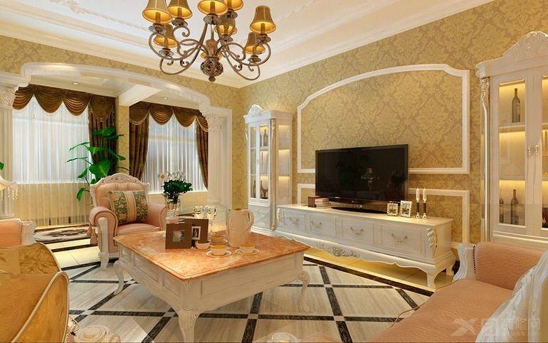 盘锦晋级装饰凤凰城四居室-200平米-装修设计欧美风情