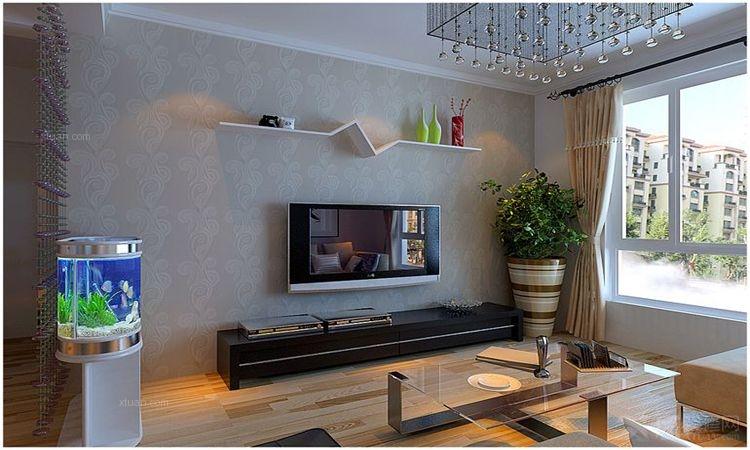 盘锦晋级装饰4万打造精品橡树湾110平现代简约二居室装修