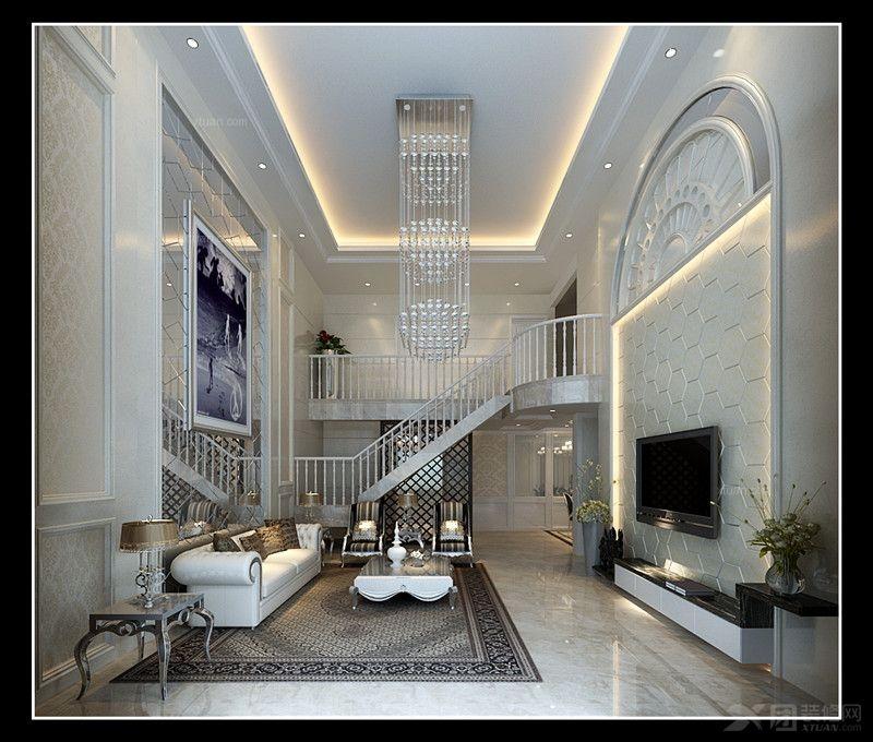 居室-136平米-客厅装修效果图 中式别墅客厅装修效果图  户型:复式楼
