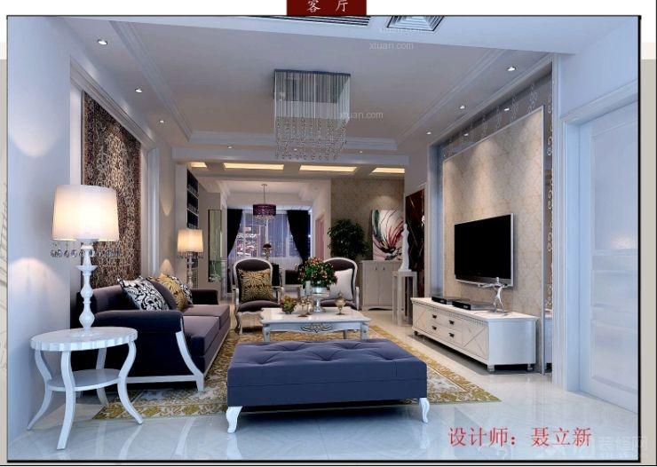 三居室现代风格客厅_柏嘉半岛
