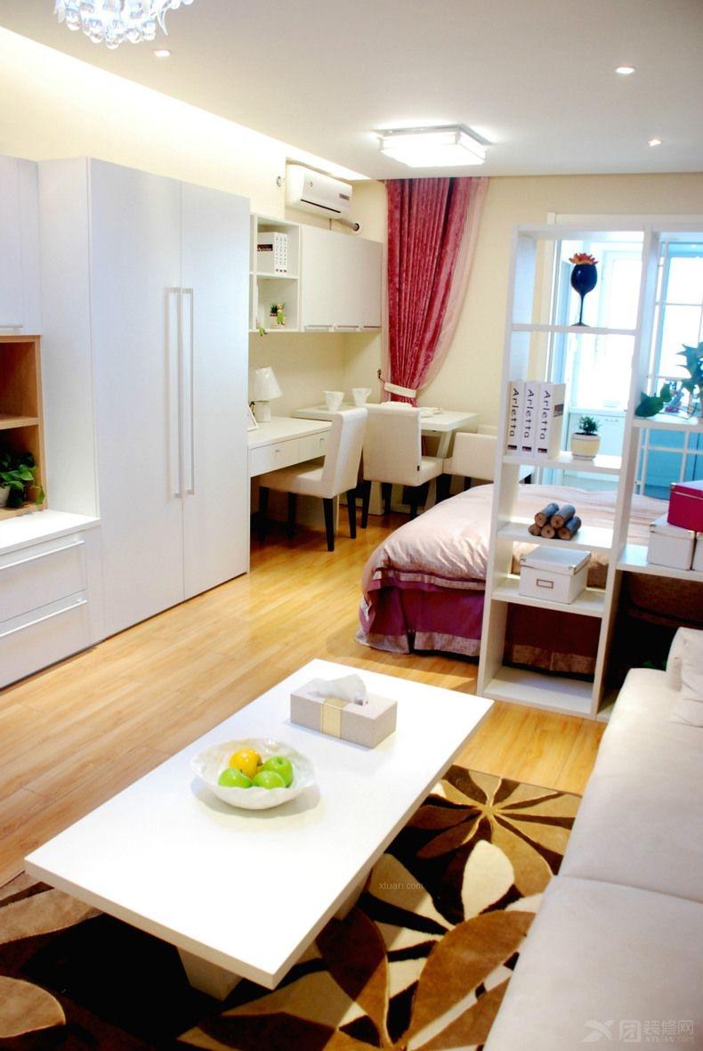 45平一室一厅一卫小户型今朝装饰案例实拍装修效果图高清图片