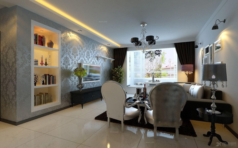 两居室现代风格餐厅_5w倾情打造98平丽江苑现代时尚风格