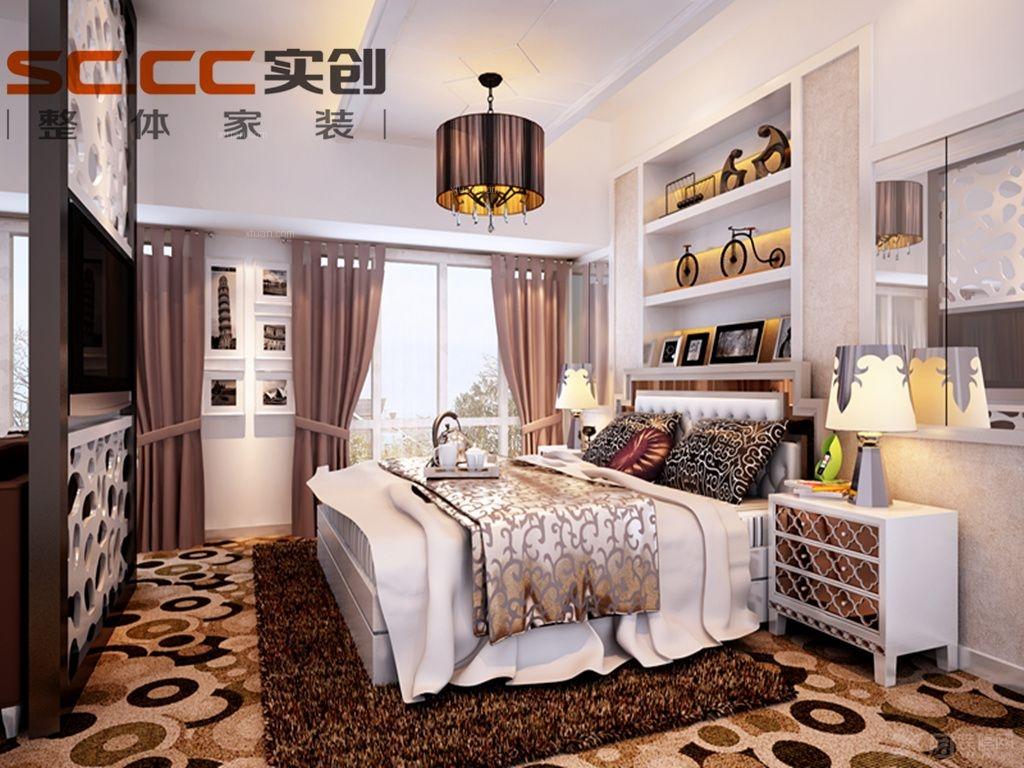 中式卧室装修效果图 套房卧室装修效果图