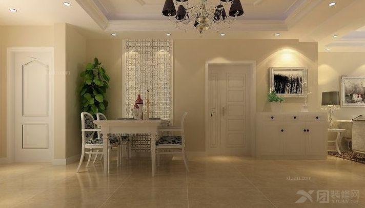 3室2厅2卫简欧装修案例效果图    124平米设计