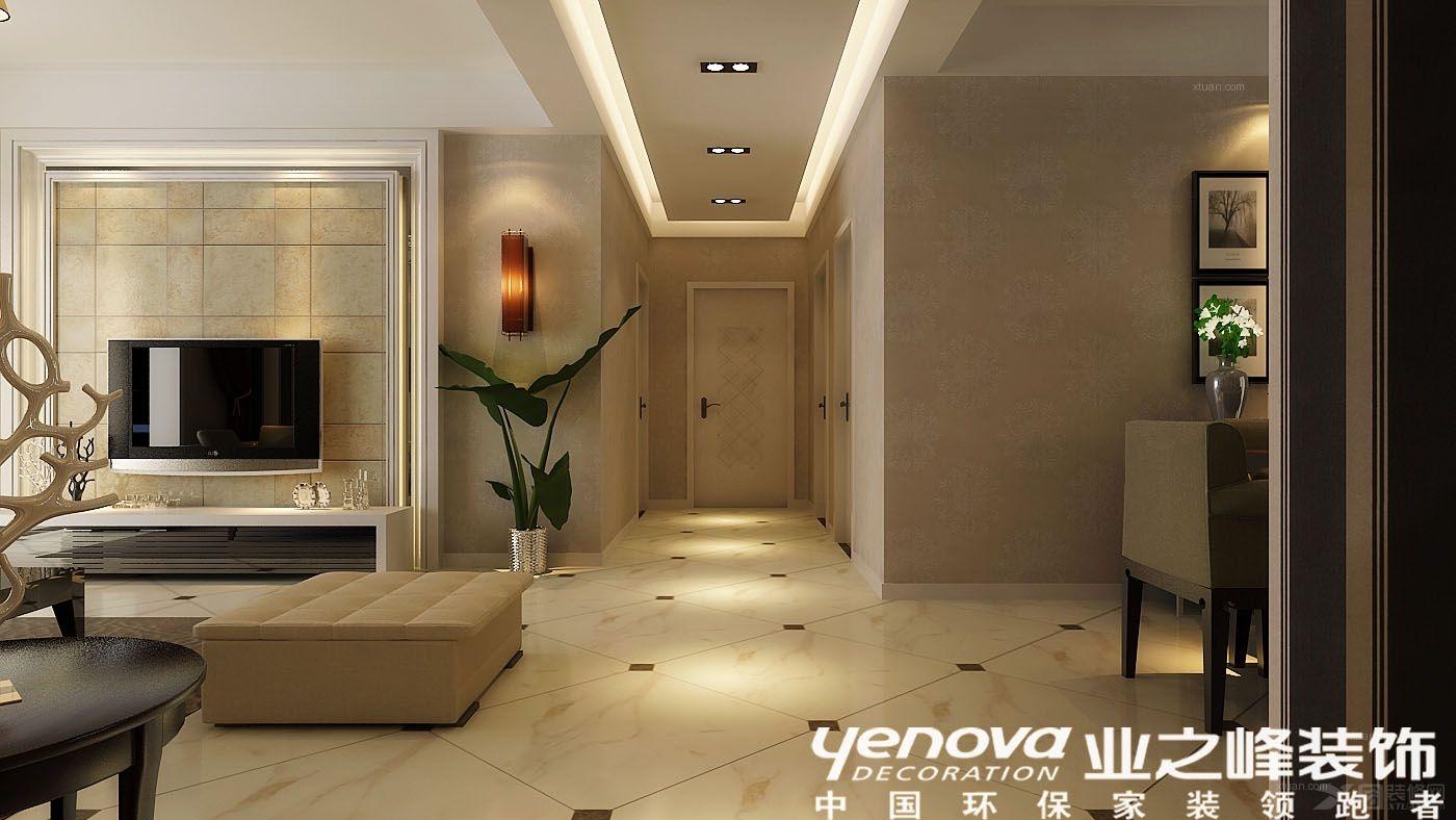 装修效果图  户型:三室两厅 房间:过道 风格:现代简约 装修类型:家装图片