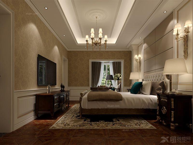别墅法式风格卧室_中海独墅岛-法式浪漫风格-别墅图片