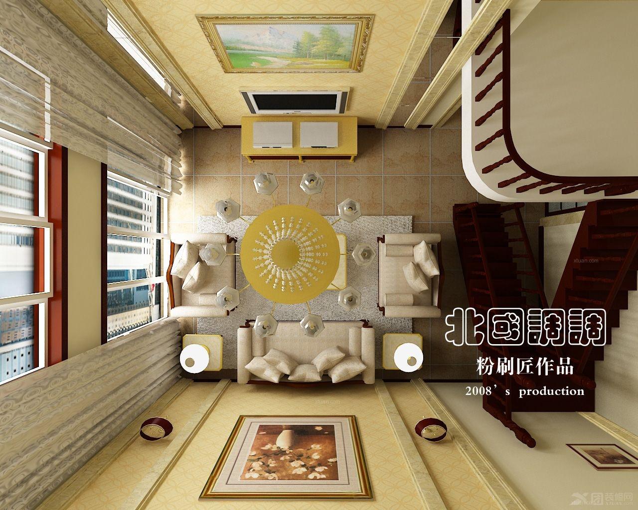 三室两厅欧式风格客厅电视背景墙_城阳宝龙广场图片