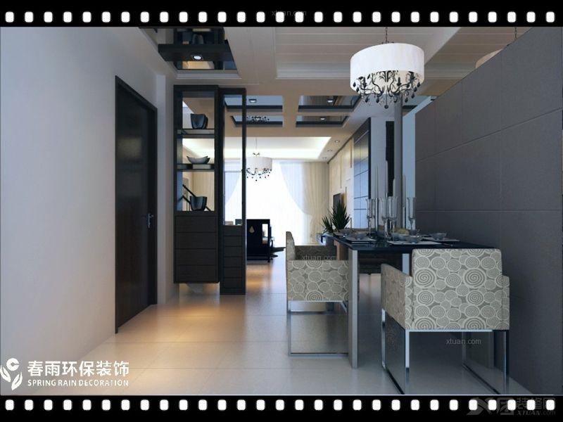【西安城市人家】望庭国际复式楼:大气涵养中式设计装修效果图 复式楼图片