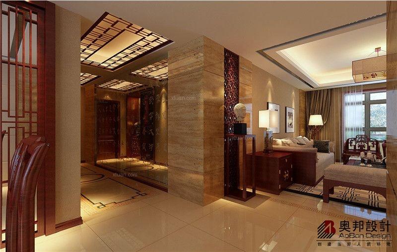 客厅卧室灯装修效果图  户型:三居室 房间:过道 风格:中式风格 装修图片