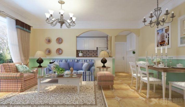 3室2厅2卫田园装修案例效果图    130平米设计