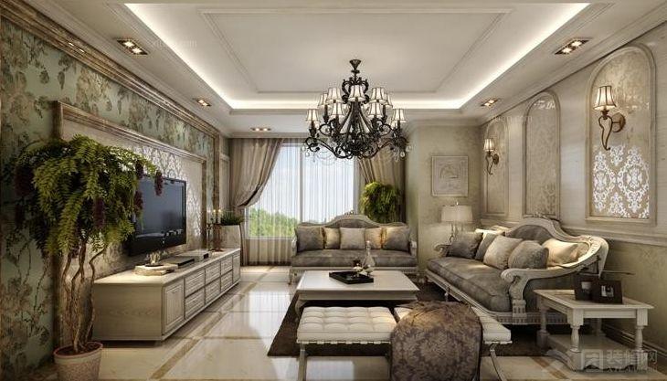 3室2厅2卫欧式装修案例效果图    146平米设计