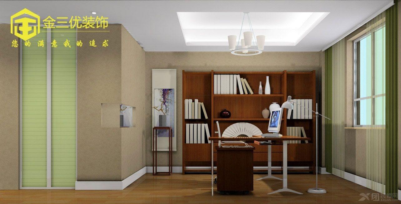 上书房经典黑白灰装修效果图 打造实用中式书房风格装修效果图 清新图片