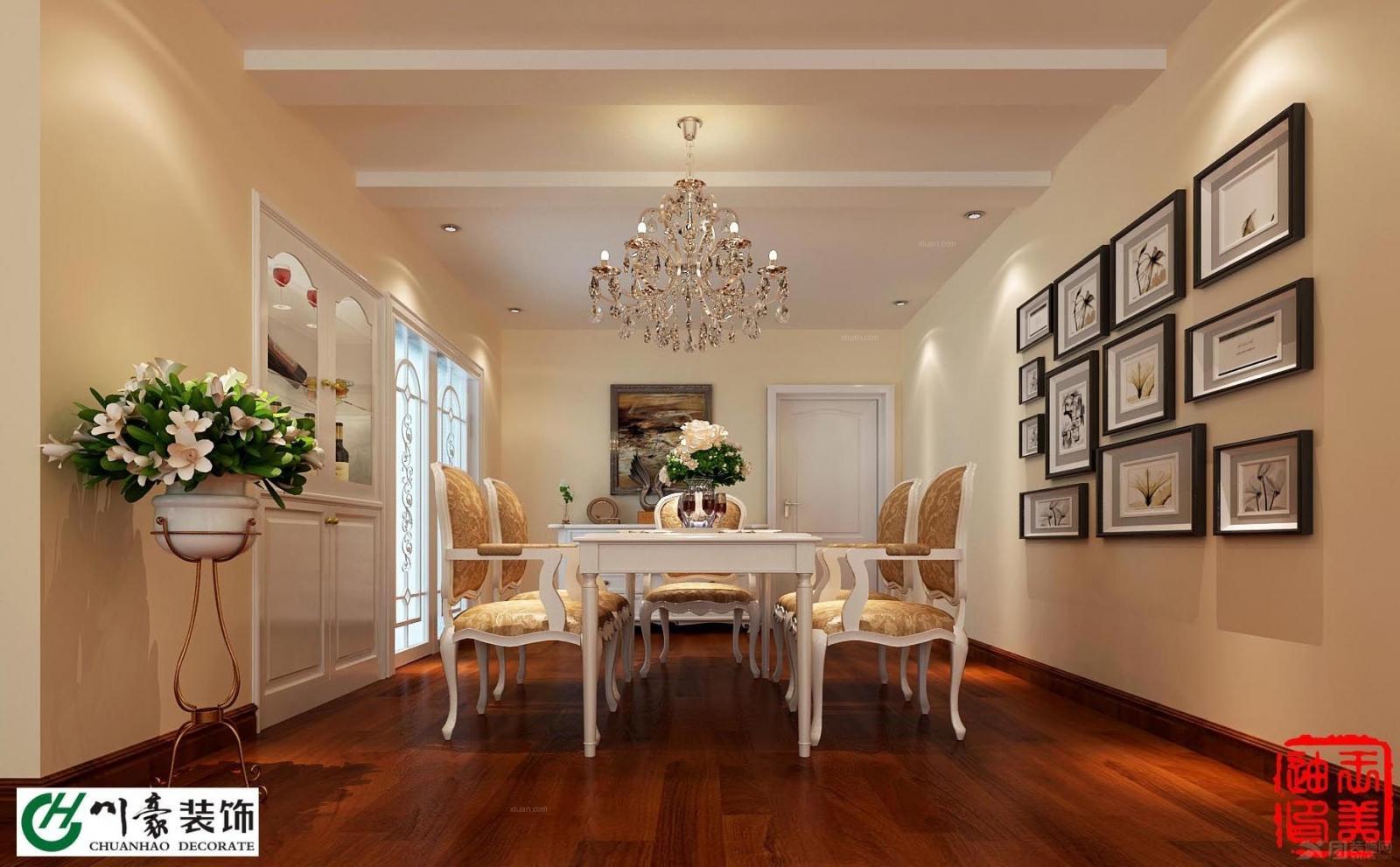 升禾绿城两室两厅简欧风格装修效果图图片