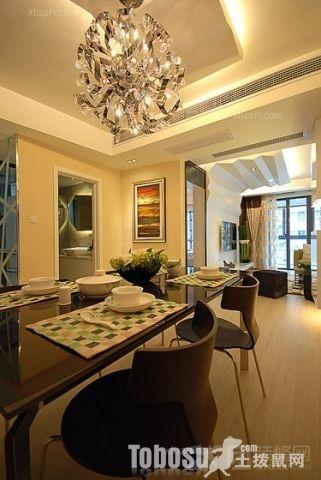 两室一厅简欧风格_怡景佳园装修效果图-x团装修网图片