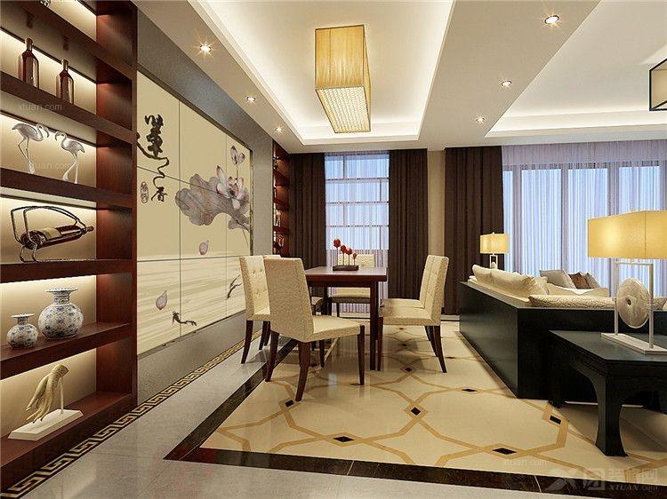 三居室中式风格_印尼园-中式风格装修效果图-x团装修网图片
