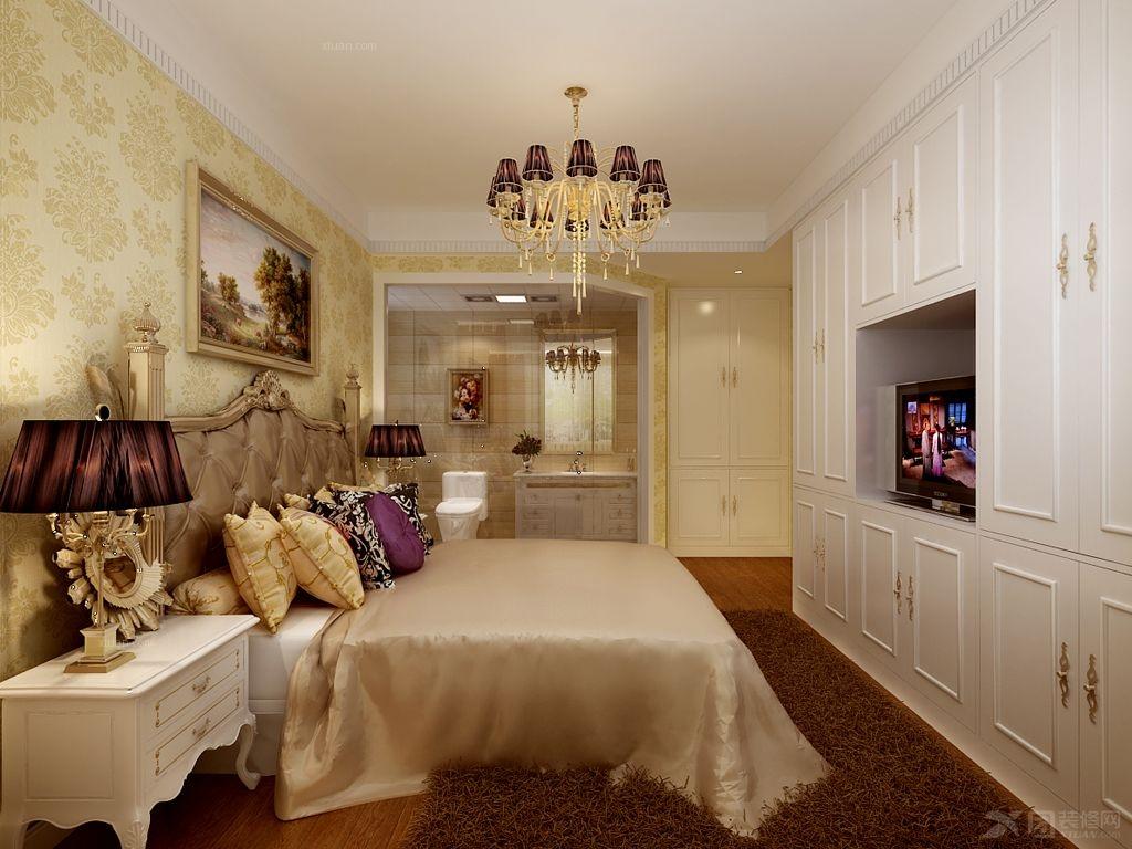 三居室现代风格案例装修效果图  户型:三居室 风格:简欧风格 装修类型图片