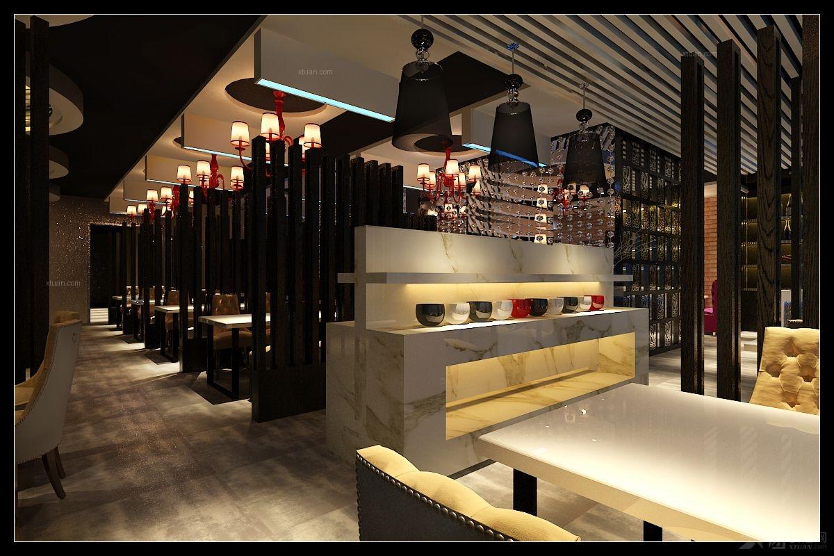 餐厅工装300平装修效果图