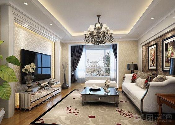 两室一厅欧式风格_现代欧式设计图图片