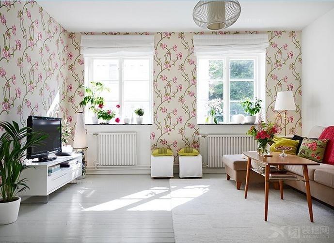 客厅设计装修效果图 原生态朴质的复式楼客厅装修效果图 套间客厅装修