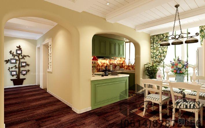 港式茶餐厅实景图装修效果图  户型:跃层 房间:餐厅 风格:田园风格