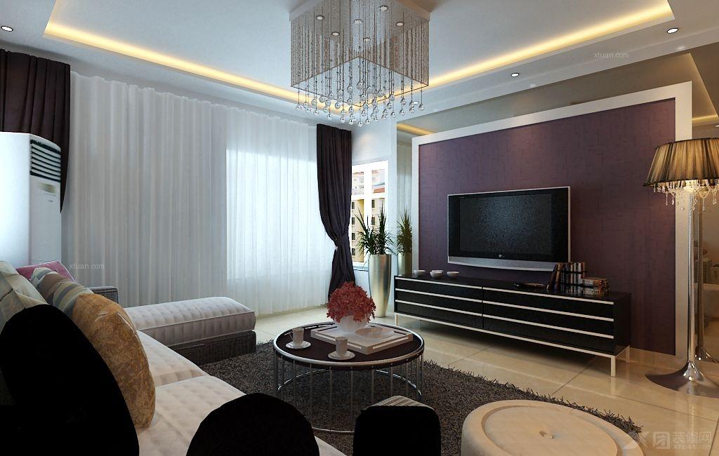 客厅电视墙选材壁纸,茶色玻璃与餐厅酒柜的设计有机
