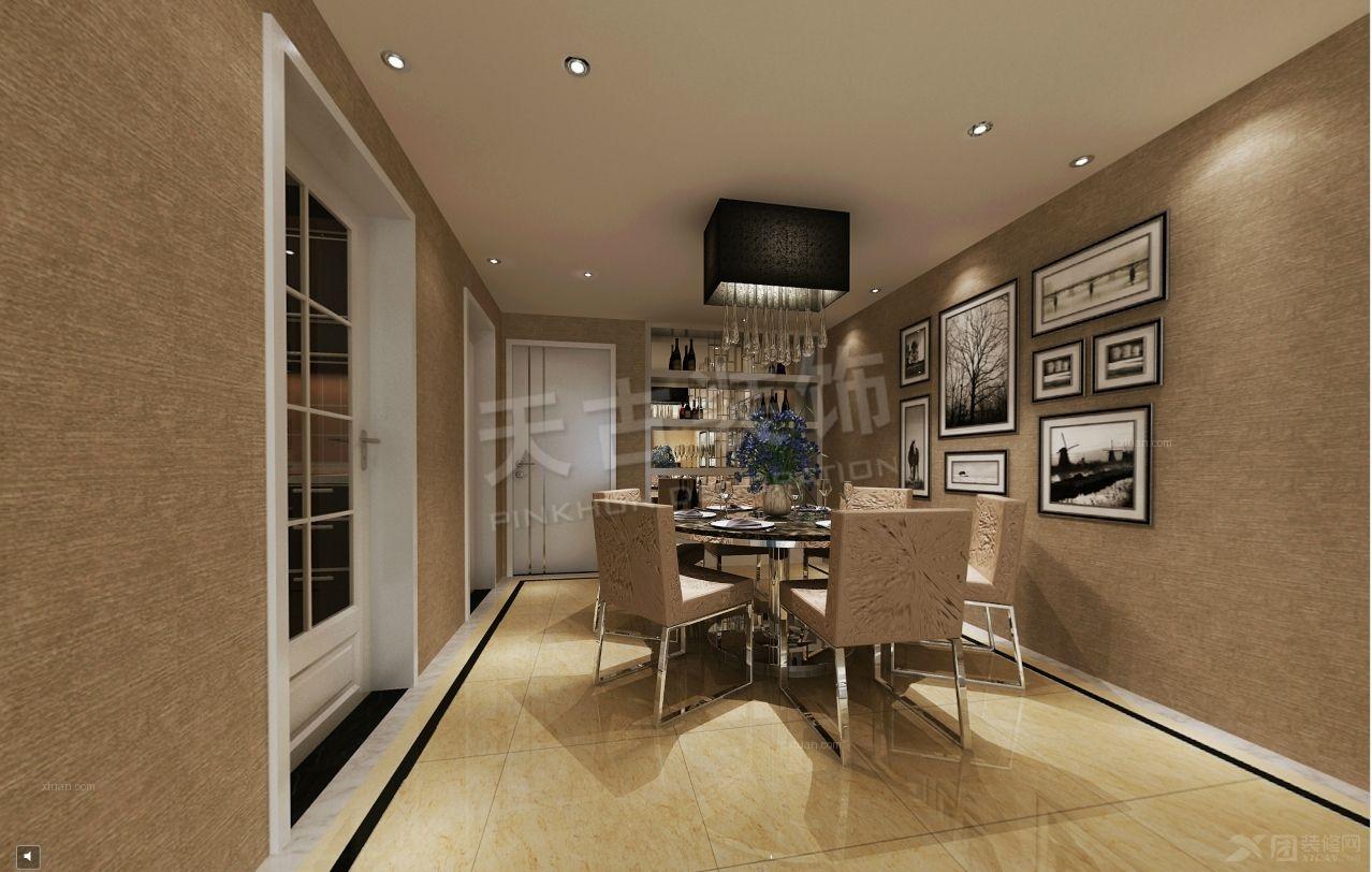 三居室现代风格餐厅_旭辉朗悦郡 现代设计装修效果图